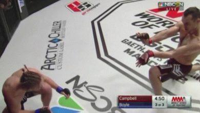 """Photo of Lutador dá """"hadouken"""" em adversário e vence por nocaute técnico em seguida"""